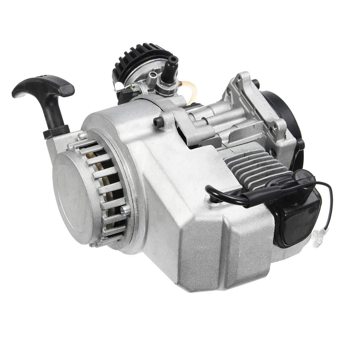 49cc 2-Stroke CDI Hand Pull Start Engine Motor For Pocket Bike Mini Dirt Bike ATV Scooter by Unkows (Image #2)