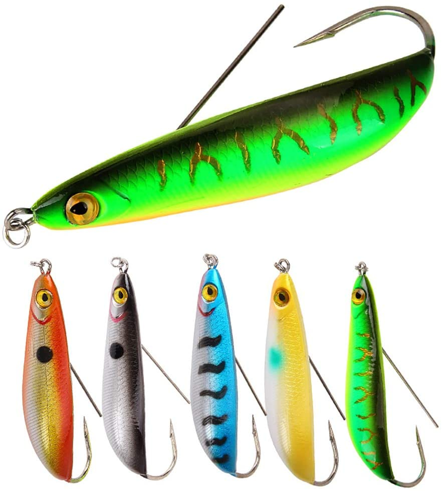 3D 125mm Fishing Lure Minnow Wobbler Hard Artificial Hot W//Hook Crankbait B K3D2