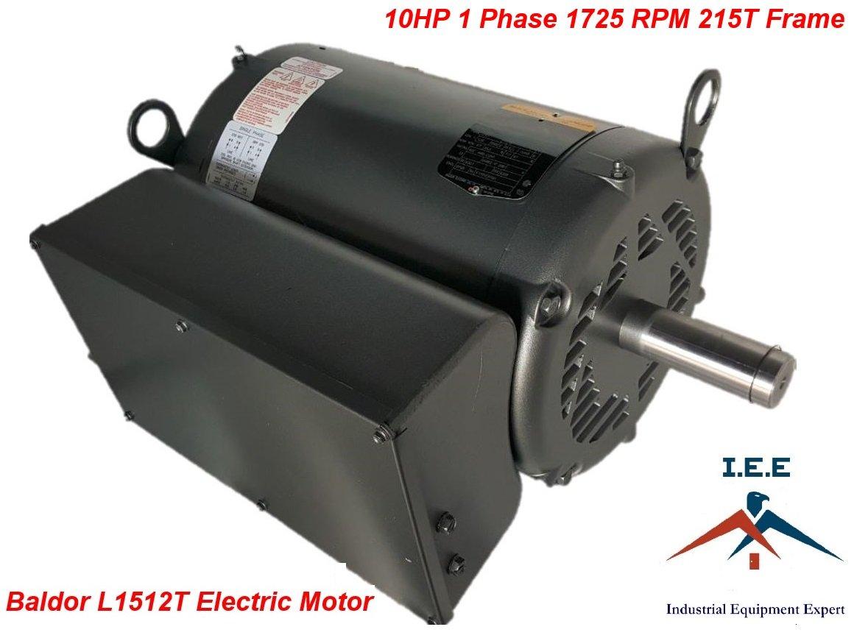 10 Hp Single Phase Baldor Electric Compressor Motor 1725 Rpm 215t Motors On 5 Wiring Diagram Frame 230 Volt
