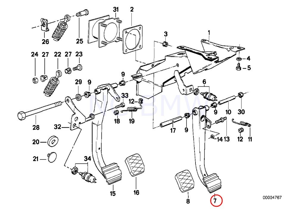 Amazon Com Bmw Genuine Brake Pedal Automotive