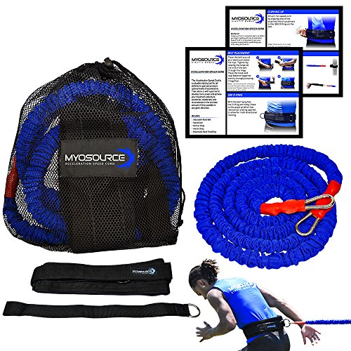 Kinetic Bands Acceleration Speed Cord for Resistance Training to Improve Strength, Power, and Agility (Small 31 inch Waist or Less)