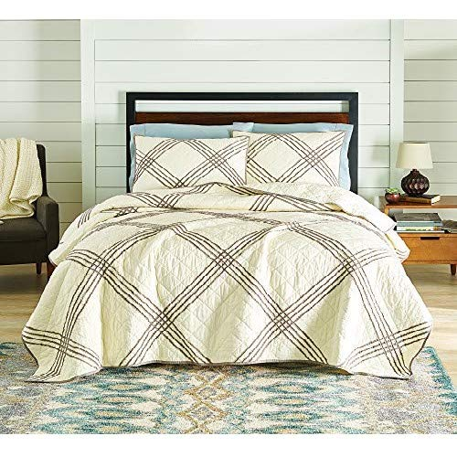 Better Homes And Gardens Pleated Diamond Quilt Collection, Full/Queen, White