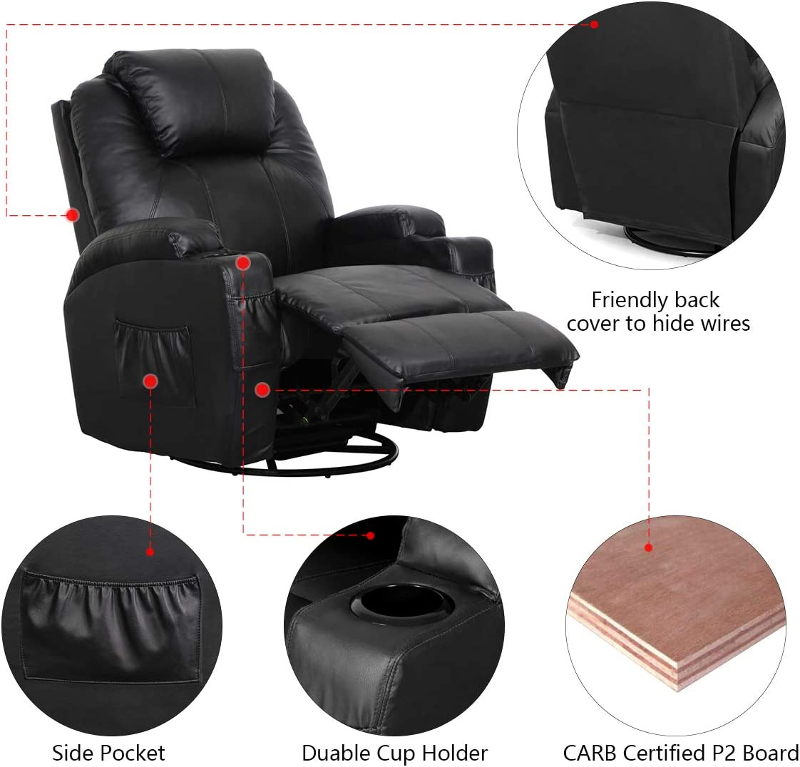 Esright Recliner Lounge Chair leather material and design
