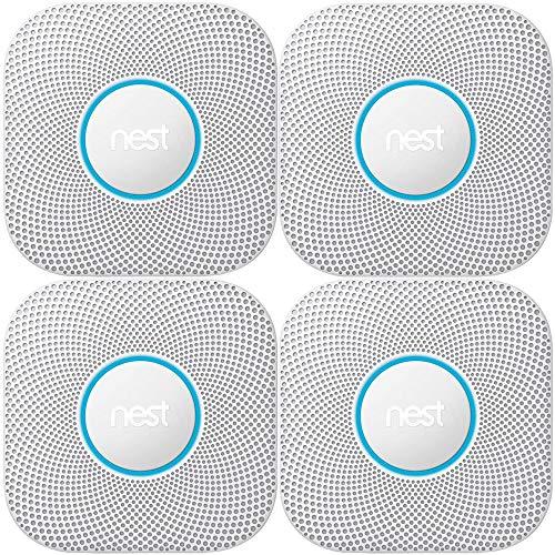 Nest Protect 2nd Generation Smoke/Carbon Monoxide Alarm-Battery(S3000BWES) 4-Pack