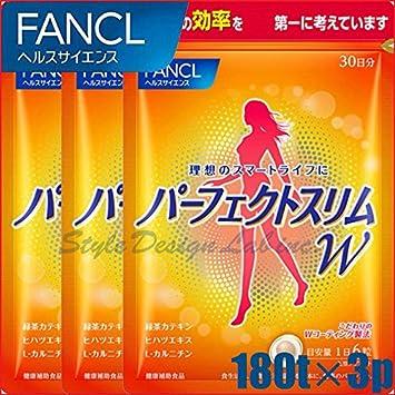 Japanese Diet Supplement Fancl Perfect Slim Alpha 30days 180tablets 3packs