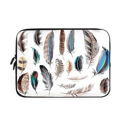 Amazon com: Feather House Decor Laptop Sleeve Bag,Neoprene Sleeve