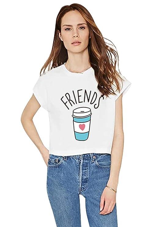 Camiseta Mejor Amiga Shirt Best Friend Moda Casual T-Shirt Friends TV Show Sudaderas Verano Mujer Hombre Básico Camisas Manga Corta Adolescentes Chicas ...