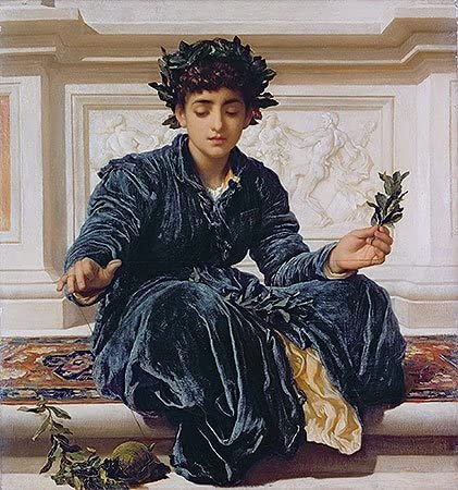 TOPofART Lord Frederick Leighton Weaving The store Wholesale Canv Wreath 1872