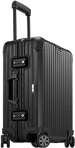"Rimowa Topas Stealth Aluminium Carry on Luggage 21"" Inch Multiwheel 32L TSA Lock Spinner Suitcase Matte Black"