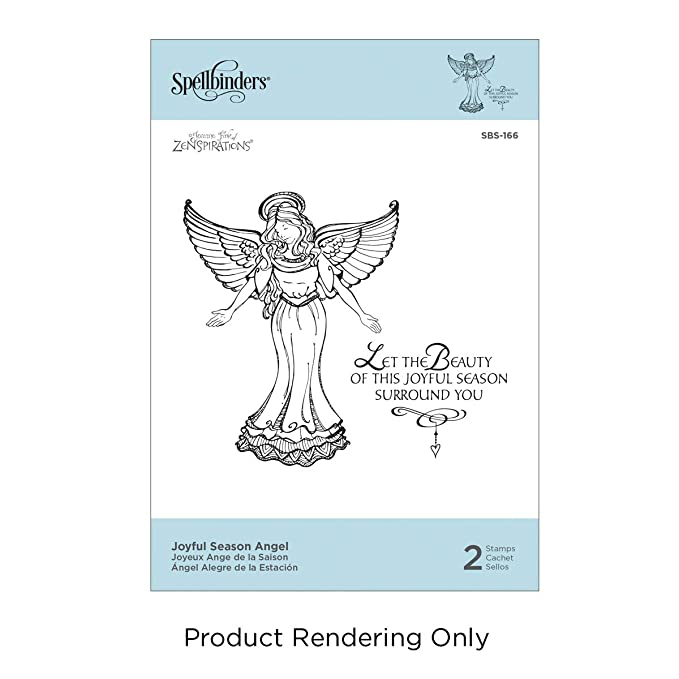 Spellbinders SBS 166 Joyful Season Angel Stamp Set Cling Foam Best Christmas Gift