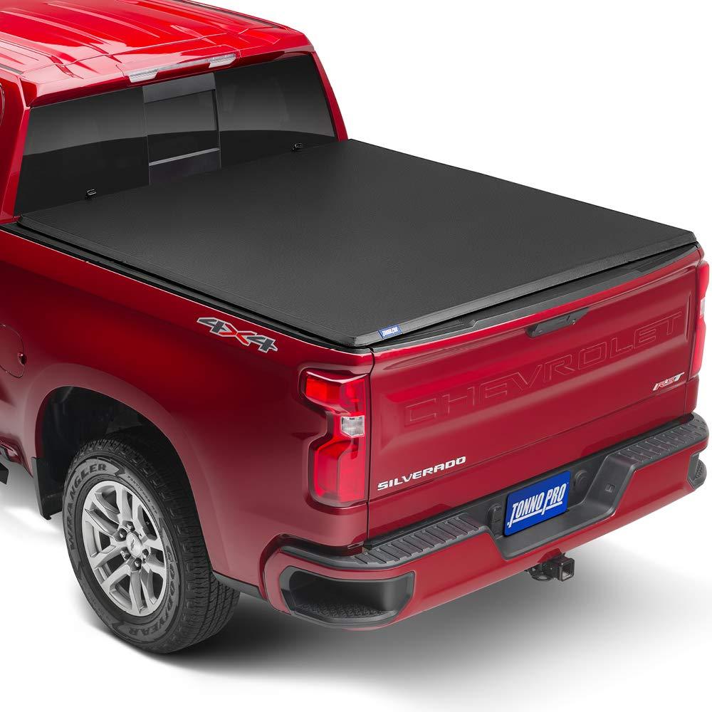 DNA MOTORING TTC-HARD-001 Truck Bed Top Hard Solid Tri-Fold Tonneau Cover