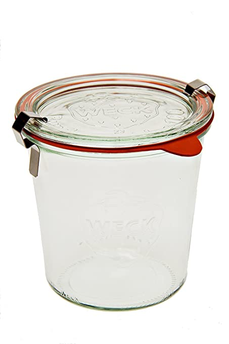 amazon com weck 742 mold jar 5 liter set of 6 kitchen dining
