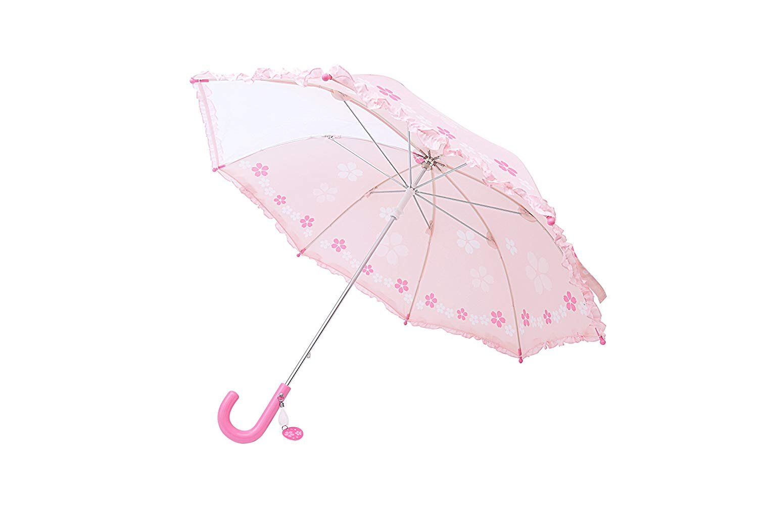 T.K.Design Umbrella for Girls Windproof Fiberglass Open Umbrella 19 Inch With Safety Open and Close