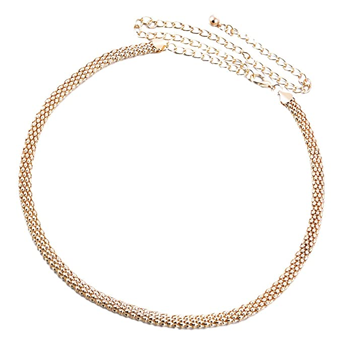 b6e3d08a2e19bb Baoblaze Hüftgürtel Taillengürtel Kettengürtel Kette für Damen Kleid  Dekoration - Gold, 115CM