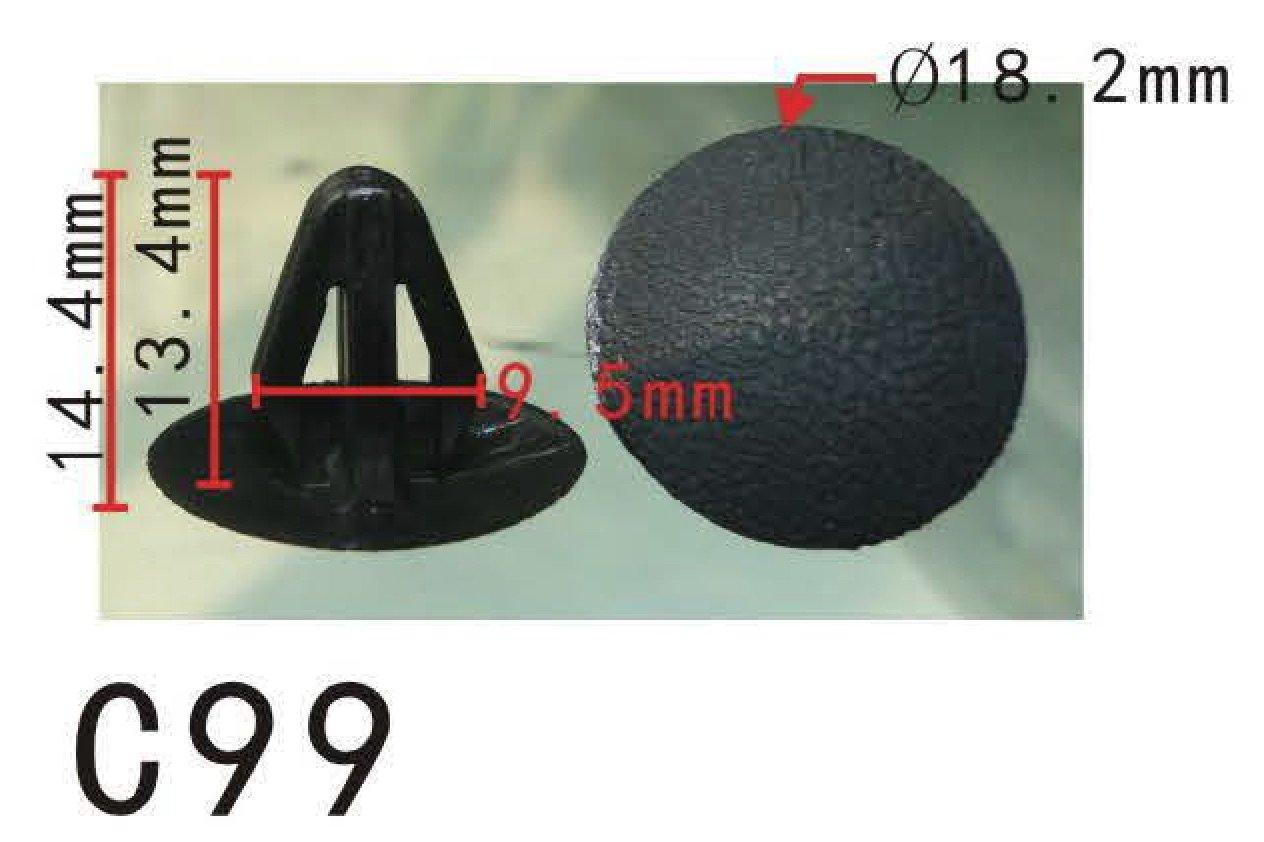 20 Retaining Clip Body Trim Retainer Nylon Fastener Fits For Nissan 62869-N4700