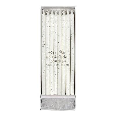 Meri Meri Silver Glitter Candles: Toys & Games