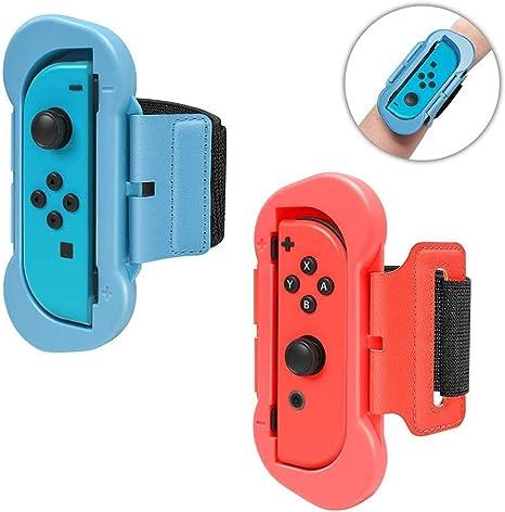 Correa de Muñeca Compatible con Joy-Con Nintendo Switch Just Dance 2020/2019, Banda de Muñeca Elástica Cómoda de 2 Tamaños Diferentes Ajustable para Adultos y Niños - Kit de 2pzs: Amazon.es: Videojuegos
