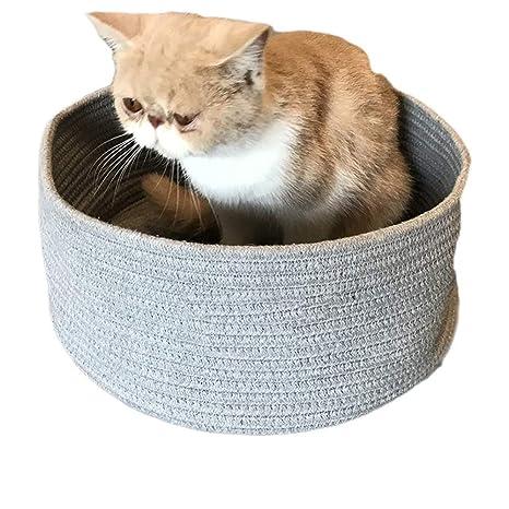 QNMM Camas para Mascotas Cuerda de algodón, Cama para Perros ...