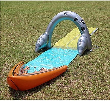 BWBG Pista Deslizante Agua, Tobogan De Agua Resbaladizo inflación Ambiente Deslizador AcuáTico para JardíN para Actividades Familiares Aire Libre Fiesta Playa Tobogán Acuático: Amazon.es: Hogar