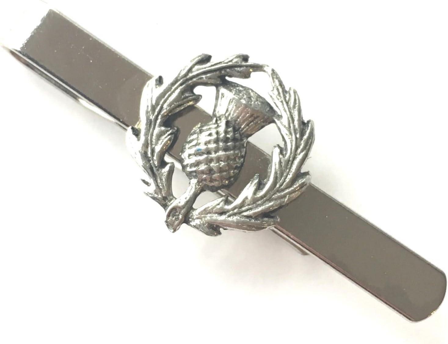 emblems-gifts Cardo Escocés ALFILER DE CORBATA DESDE Peltre Inglés +Bolsa (N430): Amazon.es: Hogar