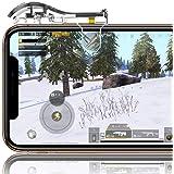 【二代目透明】 荒野行動 PUBG Mobile コントローラー 射撃ボタン ゲームパッド 感応式 優れたゲーム体験 視線が遮らない エイムアシスト 高速射撃ボタン 左右2個 iPhone Android 等対応
