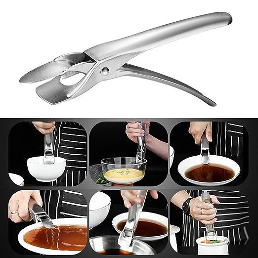 Pinza para sartenes de cocina con agarre para platos de ...