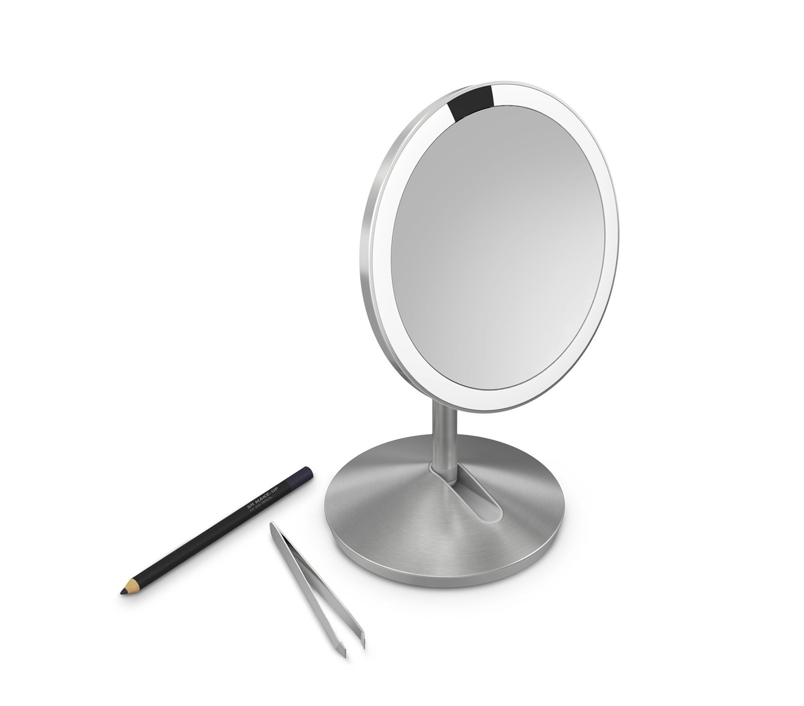 simplehuman 5 inch Sensor Mirror, Lighted Makeup Mirror, 10x Magnification by simplehuman (Image #3)
