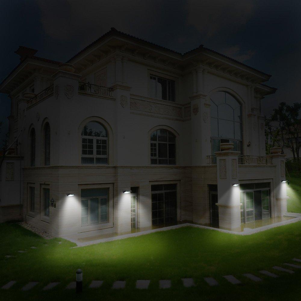 Solarmks 16 LED Solar Powered Motion Sensor Lights, Waterproof Stainless Steel Body 2 of Pack
