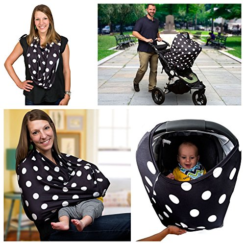 Sprout'n Smiles Nursing Breastfeeding Baby Carseat Cover - Shopping Cart and...