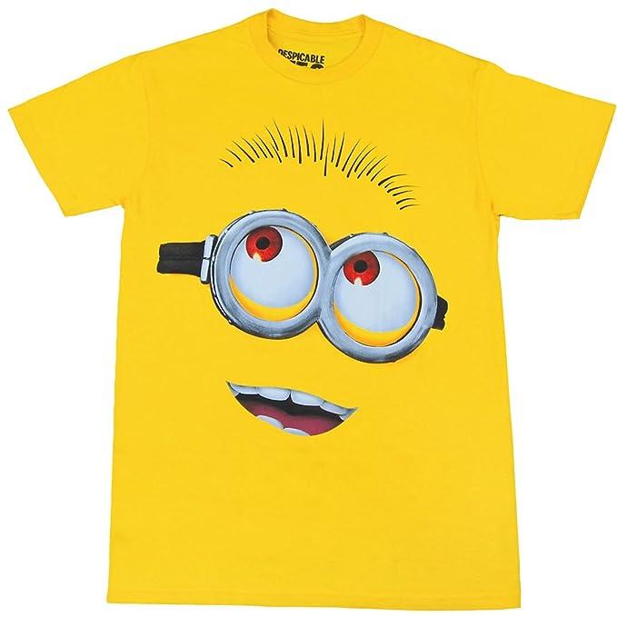 8c290ae54 Amazon.com: Minion Face Costume Adult T-Shirt: Clothing