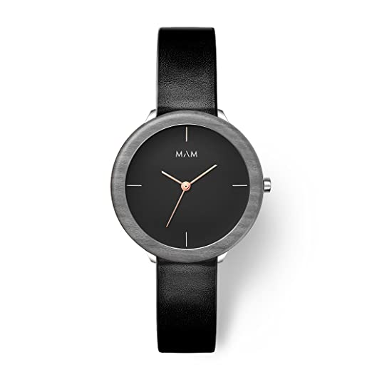 MAM Originals · Stainless Dark Maple Night | Reloj de Mujer | Diseño Minimalista | Creado con Madera de Arce sostenible Gris y Acero Inoxidable Reciclado: ...