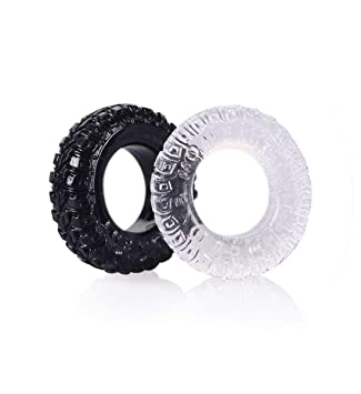 Oral Men Japan Breast Soft Silicone Rings Delay Adult ToyFunnytender Male Chastity Sleeve Ring Funny Toys Man 2 Psc/Set,Black
