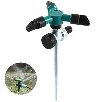 Rasensprenger 360° 3-Arm Drehbar Garten Sprinkler Impulsregner Kreisregner