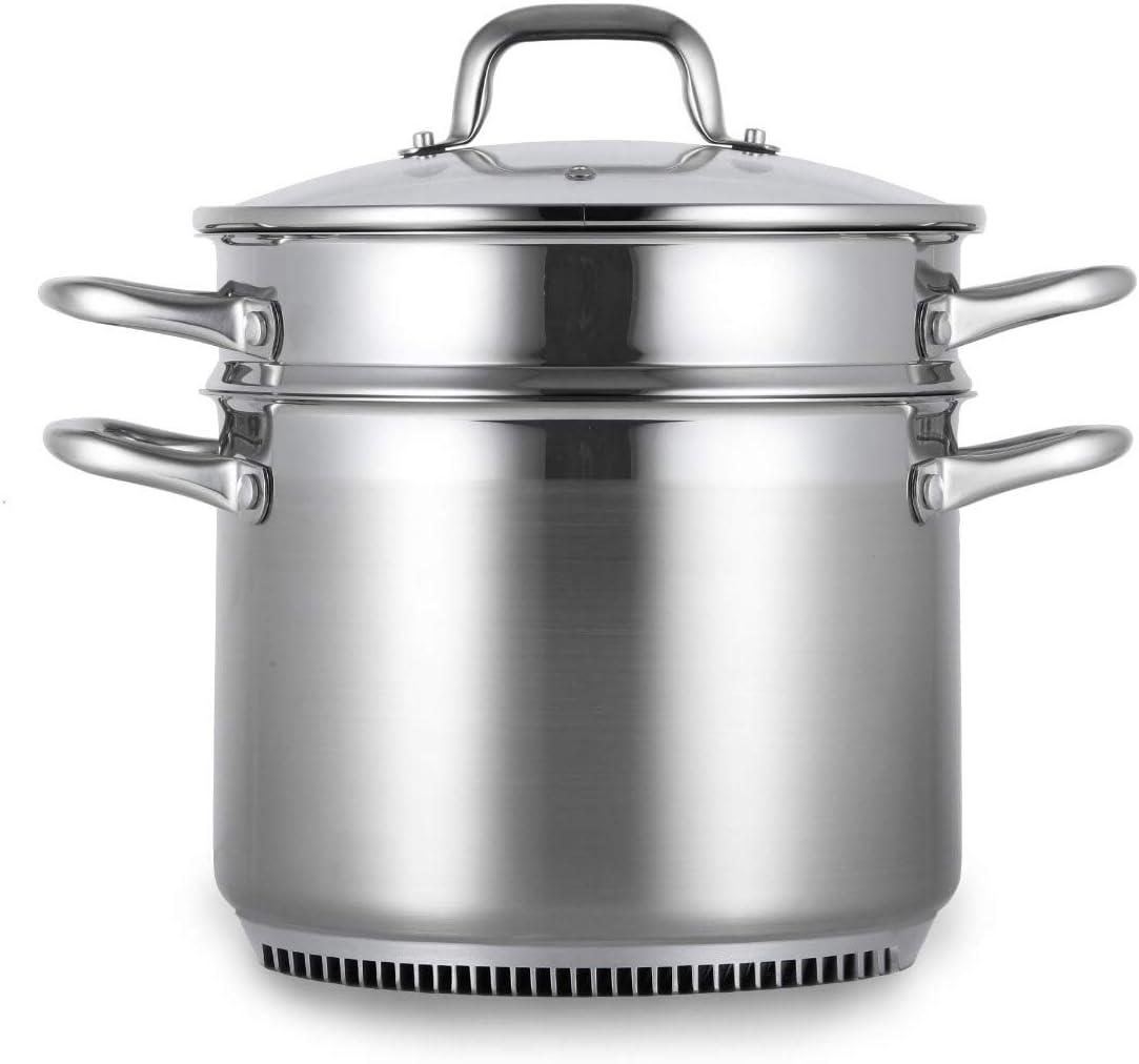FreshAir Stainless Steel 8Qt Turbo Steamer/Pasta Cooker