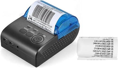 Aibecy 58mm Thermal Receipt Printer Portable Mini Wireless Thermal Printer USB Receipt Bill Ticket P…