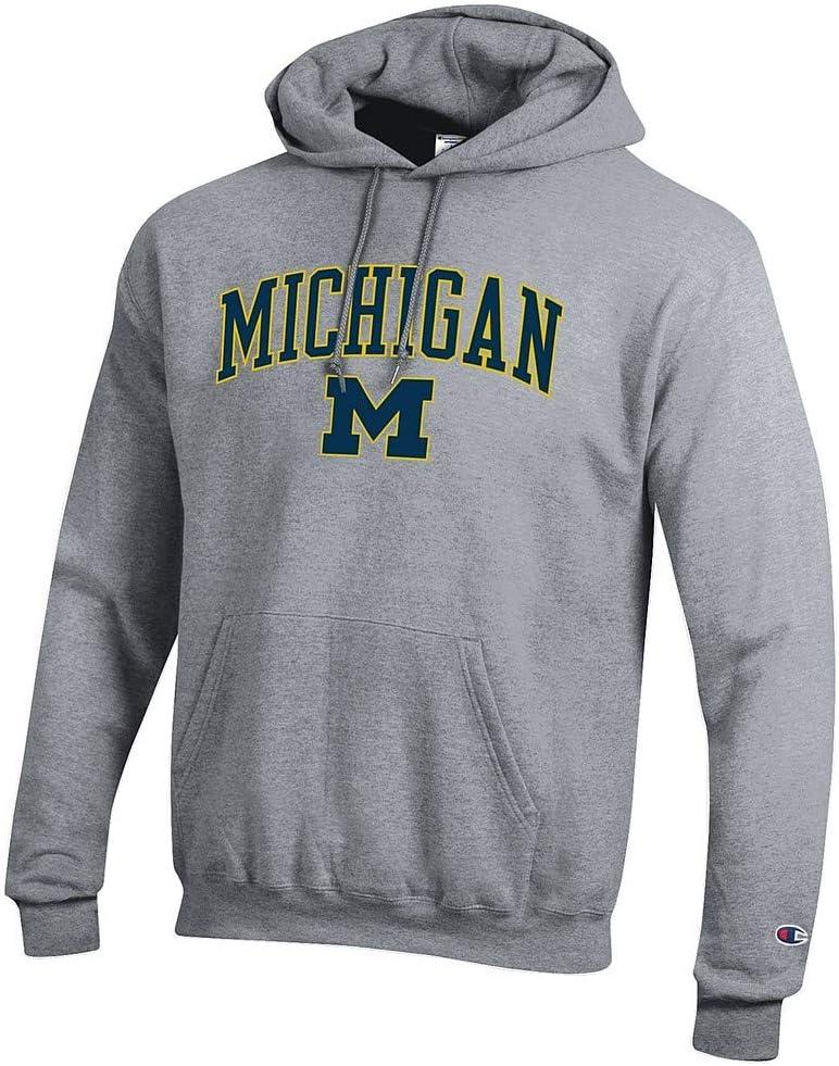 Elite Fan Shop NCAA Mens Hoodie Sweatshirt Oxford Gray