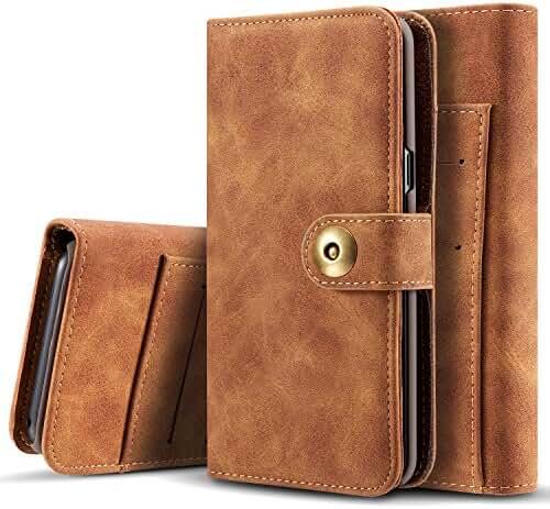 Samsung Galaxy S8/S8 Plus Case Wallet Phone Case Flip Cover Magnetic Detachable Case