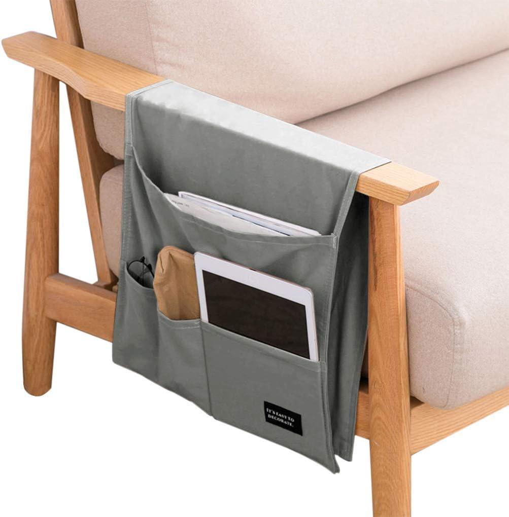 gafas DVD cuaderno de notas tableta aperitivos bebidas Organizador de sof/á y reposabrazos para silla de IPENNY con soporte de almacenamiento para el tel/éfono revistas