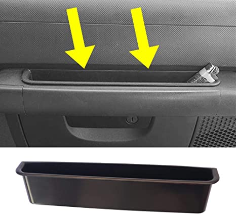 JeCar GrabTray Passenger Storage Tray Organizer Grab Handle Accessory Box for 2011-2018 Jeep Wrangler JK JKU 2-door//4-door Black Interior Accessories