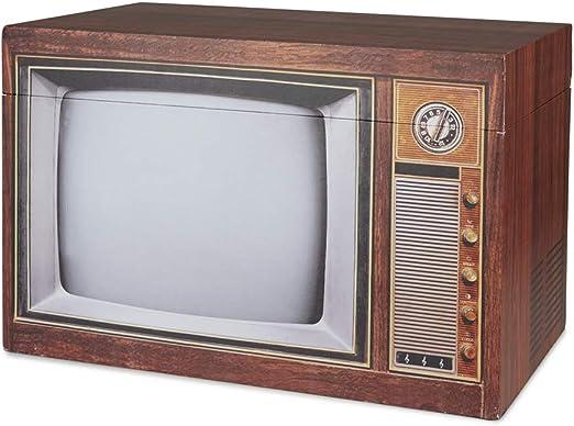 Balvi Caja almacenaje Vintage Color marrón Contenedor de Almacenamiento Original y Bonito con Forma de televisión Antigua Madera DM 34x50x30 cm: Amazon.es: Hogar