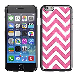 X-ray Impreso colorido protector duro espalda Funda piel de Shell para Apple iPhone 6 Plus(5.5 inches)- White Pink Pattern Minimalist