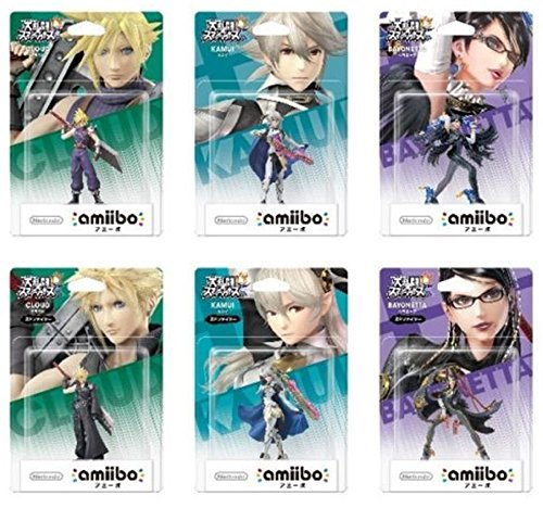 Nintendo Amiibo Super Smash Bros. Cloud Kamui (Corrin) Bayonetta set Japanese Ver.