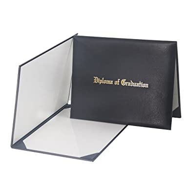 com graduationmall imprinted diploma cover black  graduationmall imprinted diploma cover black 8 1 2