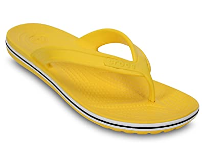 8c864287d crocs Unisex Crocband LoPro Yellow Rubber Flip-Flops and House Slippers -  M9 W11  Buy Online at Low Prices in India - Amazon.in