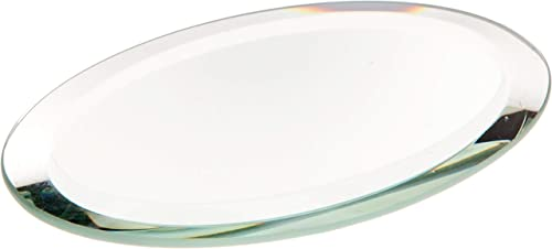 Plymor Oval 3mm Beveled Glass Mirror, 2 inch x 3 inch Pack of 24