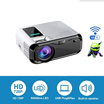 LED HD Proyector Portátil Proyector con 3500 Lux Soporte 1080p ...