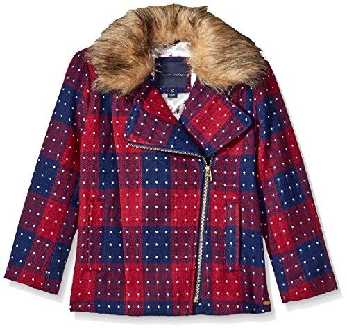 Tommy Hilfiger Big Girls' Short Wool Car Coat, Red Berry, Medium/8/10 by Tommy Hilfiger