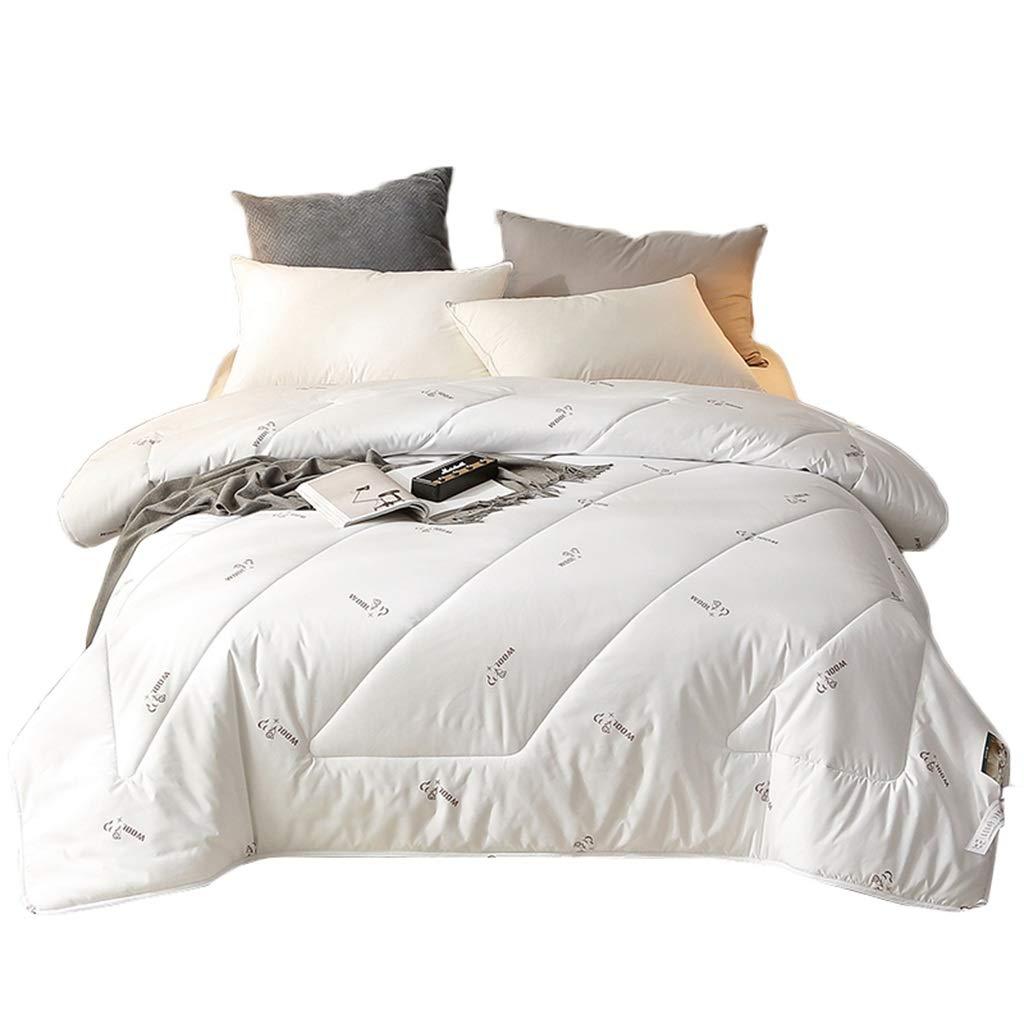 SZQ 印刷掛けふとん、2.5-4KG -ソフトホテルエアコン掛けふとん暖かい冷たい保護を保つ快適な冬のバルコニーソフトブランケット 暖かい (色 : 白, サイズ さいず : 220*240cm-4kg) B07P9GL1P4 白 220*240cm-4kg