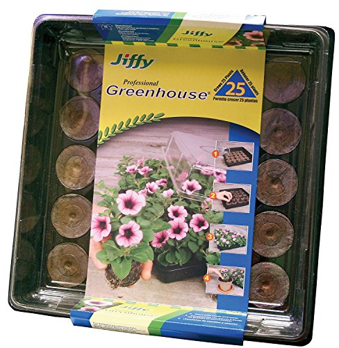 Peat Pellet Greenhouse - Jiffy 42mm Professional Greenhouse 25-Plant Starter Kit
