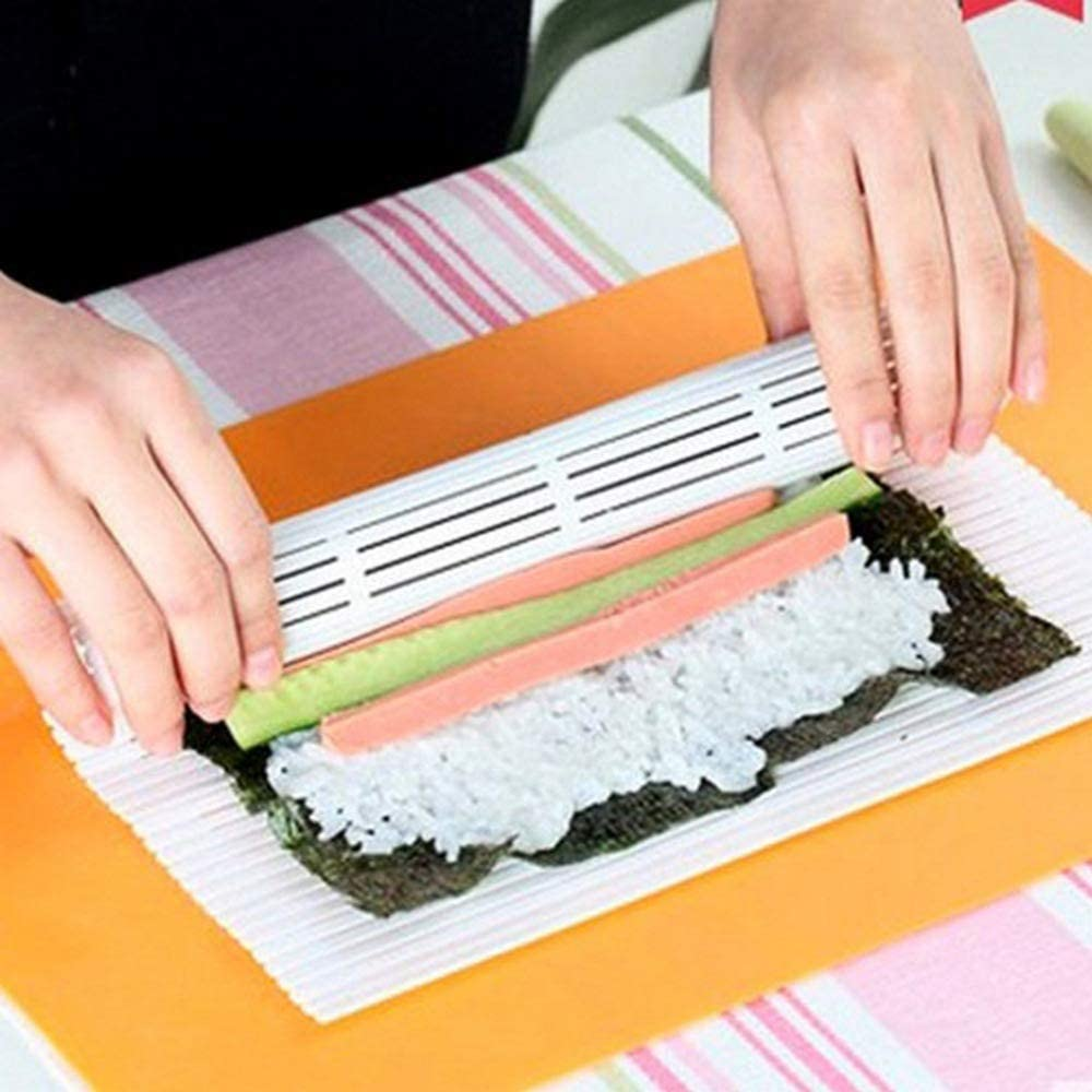 Sushi Tool Set Speciale di Plastica Tenda Alghe Riso Stuoia Alghe Di Plastica Sushi Roll Stampi